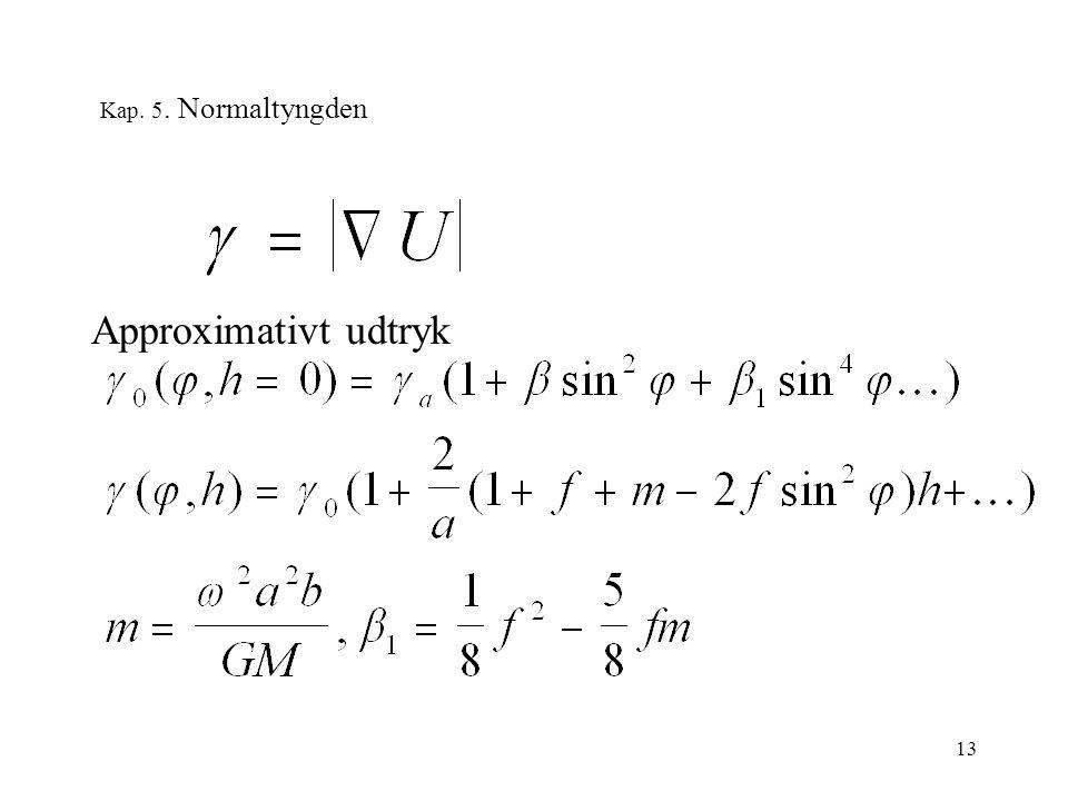 13 Kap. 5. Normaltyngden Approximativt udtryk