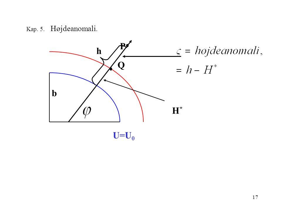 17 Kap. 5. Højdeanomali. Q P H*H* U=U 0 b h