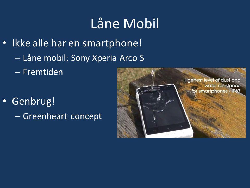 Låne Mobil Ikke alle har en smartphone. – Låne mobil: Sony Xperia Arco S – Fremtiden Genbrug.