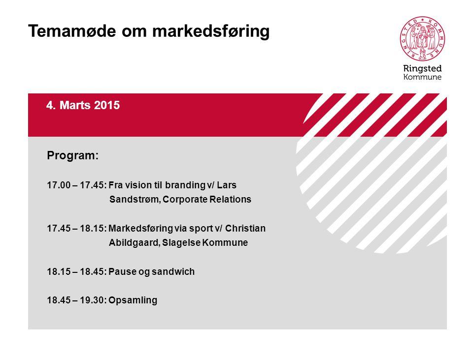 Temamøde om markedsføring 4.