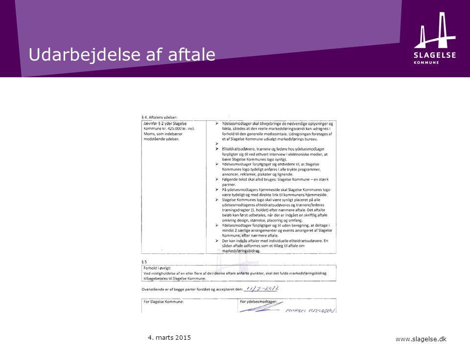 www.slagelse.dk Udarbejdelse af aftale 4. marts 2015