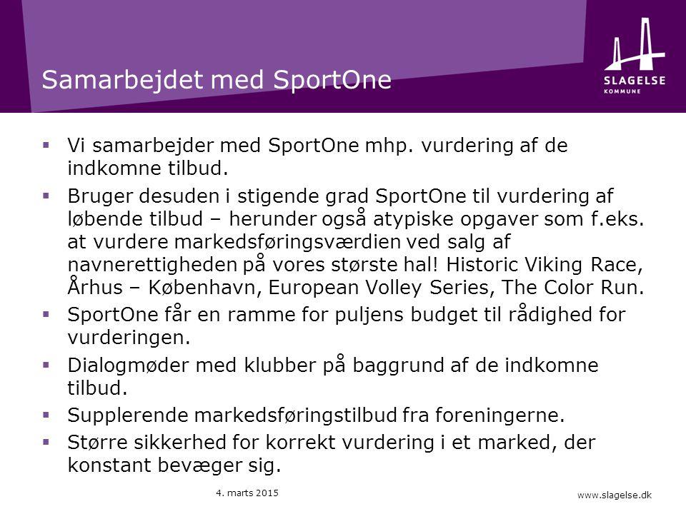 www.slagelse.dk Samarbejdet med SportOne  Vi samarbejder med SportOne mhp.