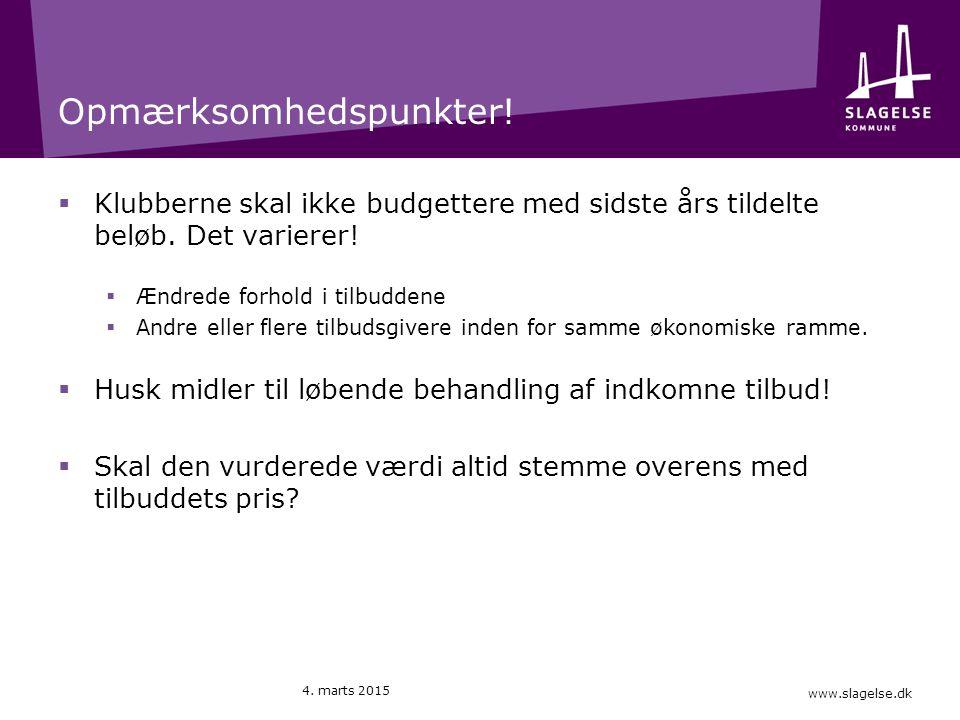 www.slagelse.dk Opmærksomhedspunkter.