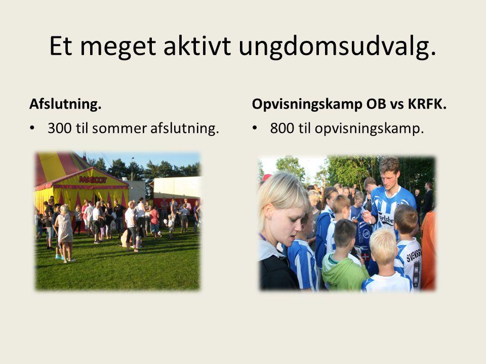 Et meget aktivt ungdomsudvalg. Afslutning. 300 til sommer afslutning.
