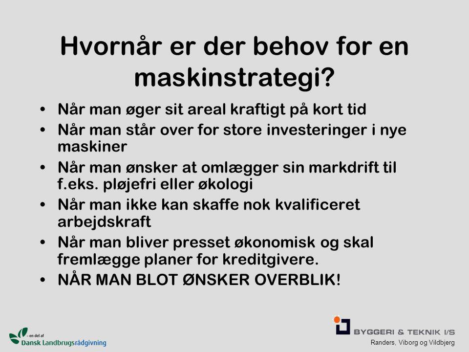 Randers, Viborg og Vildbjerg Hvornår er der behov for en maskinstrategi.