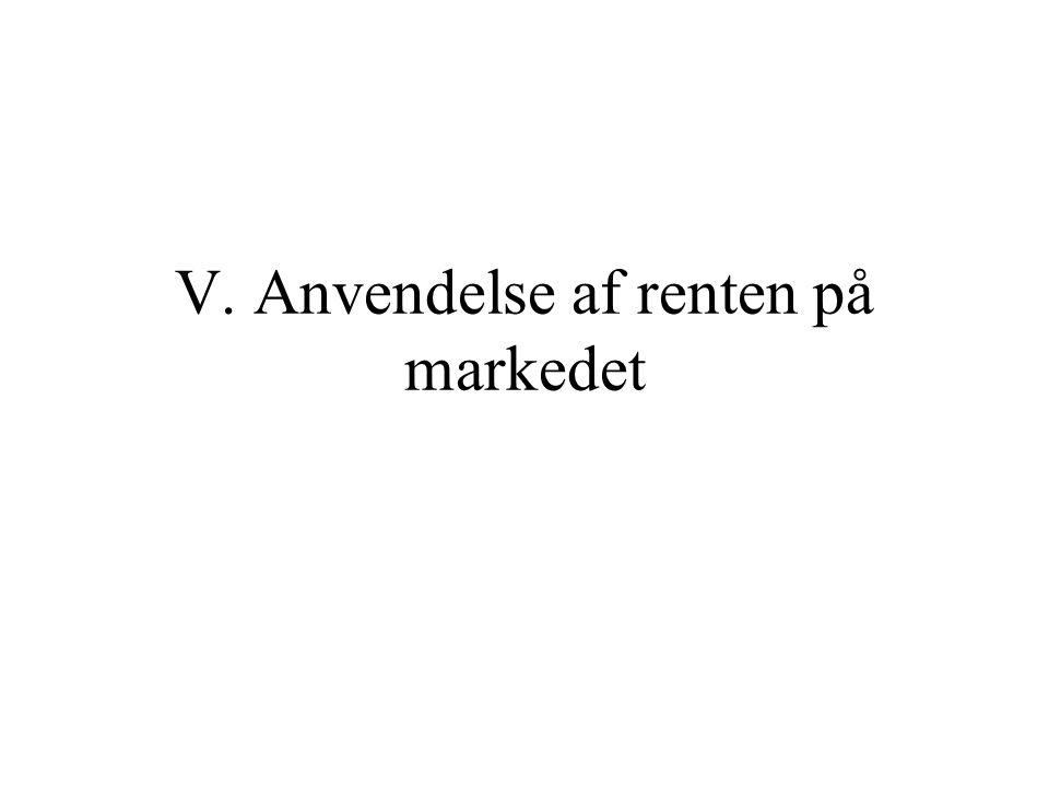 V. Anvendelse af renten på markedet