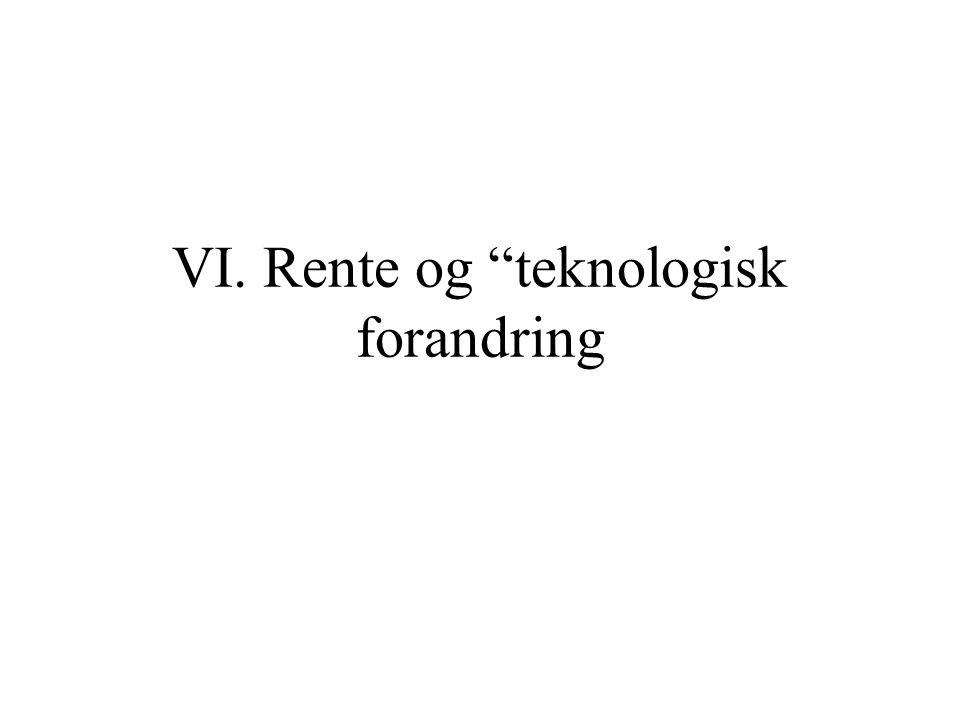 VI. Rente og teknologisk forandring