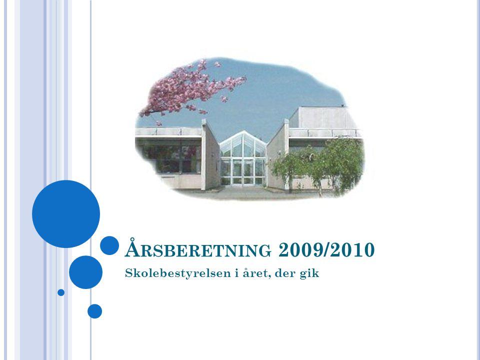 Å RSBERETNING 2009/2010 Skolebestyrelsen i året, der gik