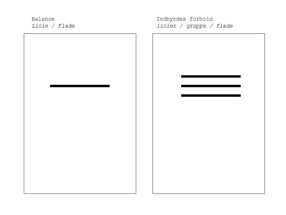 Balance Linie / flade Indbyrdes forhold linier / gruppe / flade