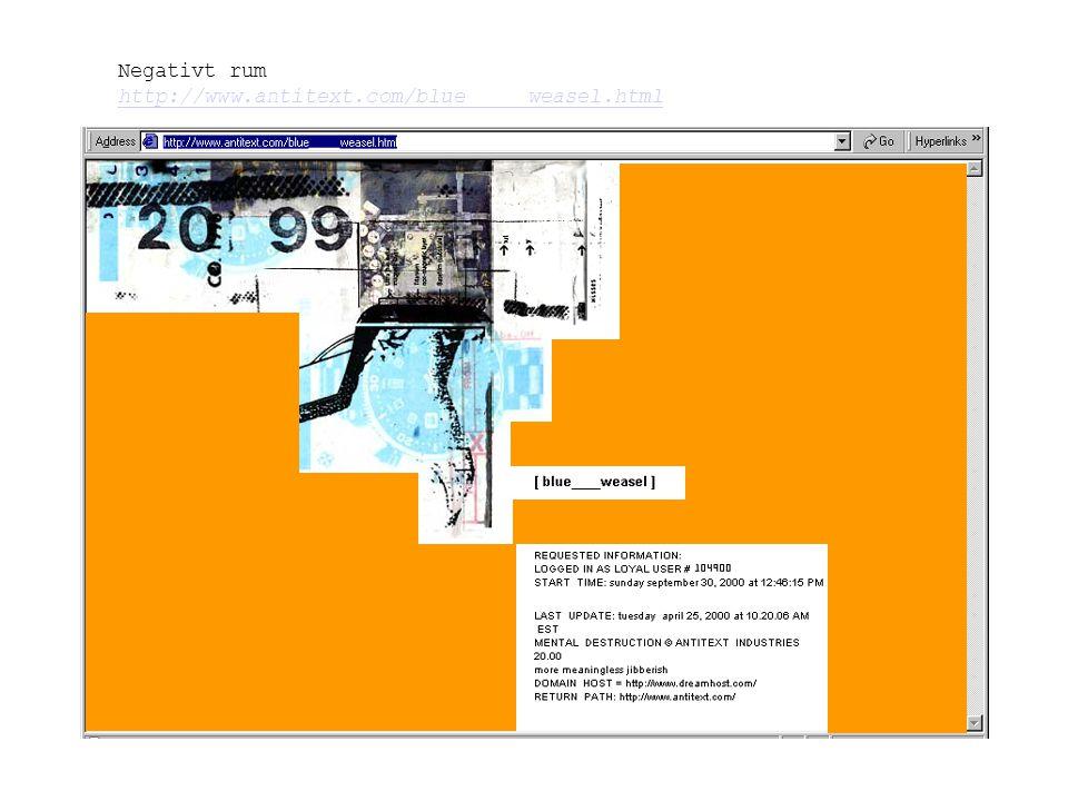Negativt rum http://www.antitext.com/blue_____weasel.html