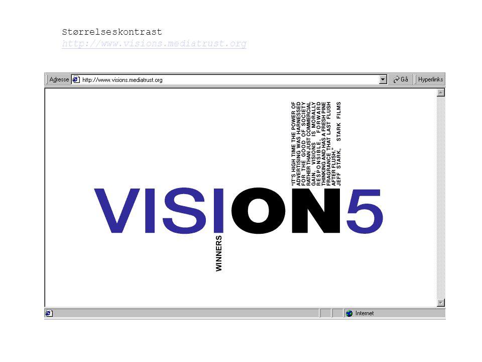 Størrelseskontrast http://www.visions.mediatrust.org