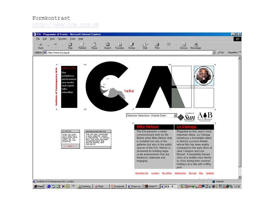 Formkontrast http://www.ica.org.uk