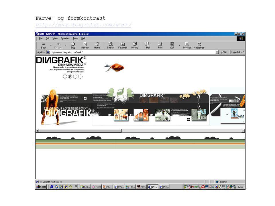 Farve- og formkontrast http://www.dingrafik.com/work/
