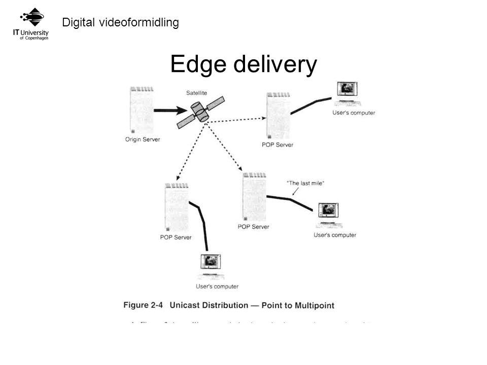 Digital videoformidling Edge delivery