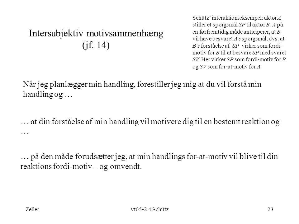 Zellervt05-2.4 Schütz23 Intersubjektiv motivsammenhæng (jf.