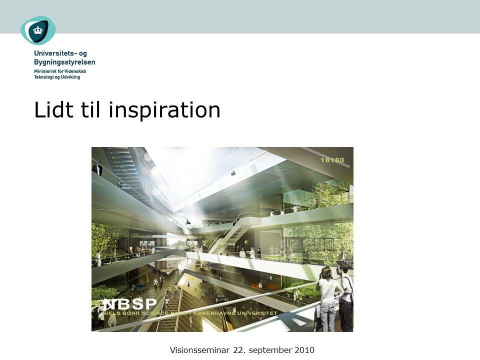 Lidt til inspiration Visionsseminar 22. september 2010