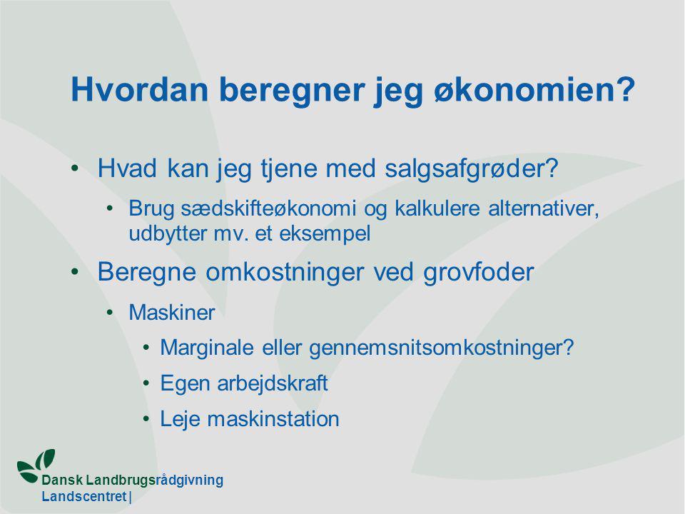 Dansk Landbrugsrådgivning Landscentret | Hvordan beregner jeg økonomien.