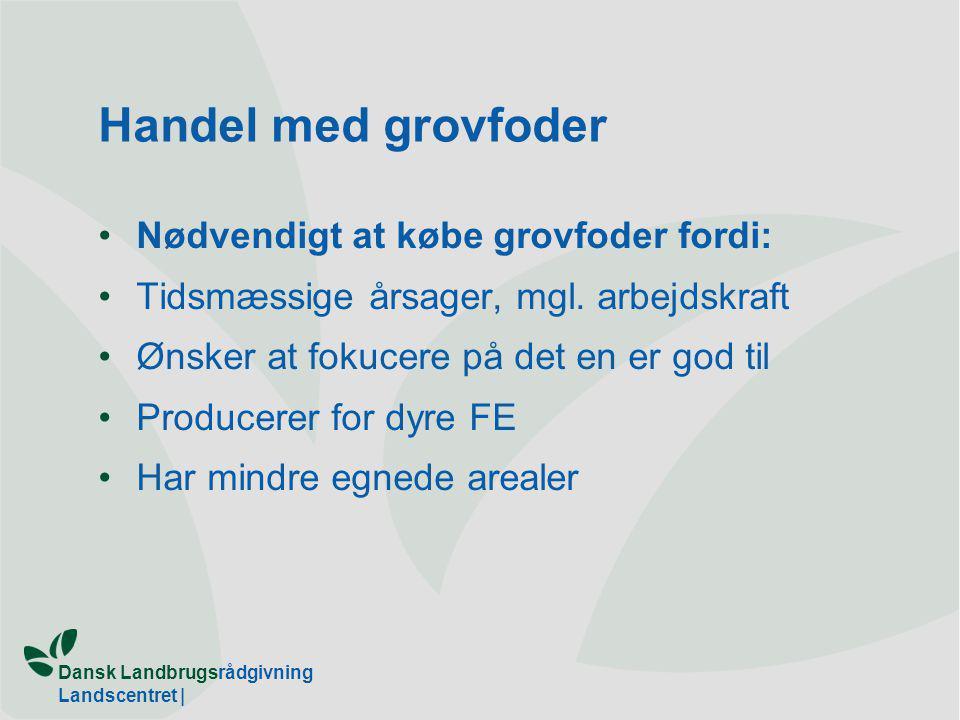 Dansk Landbrugsrådgivning Landscentret | Handel med grovfoder Nødvendigt at købe grovfoder fordi: Tidsmæssige årsager, mgl.