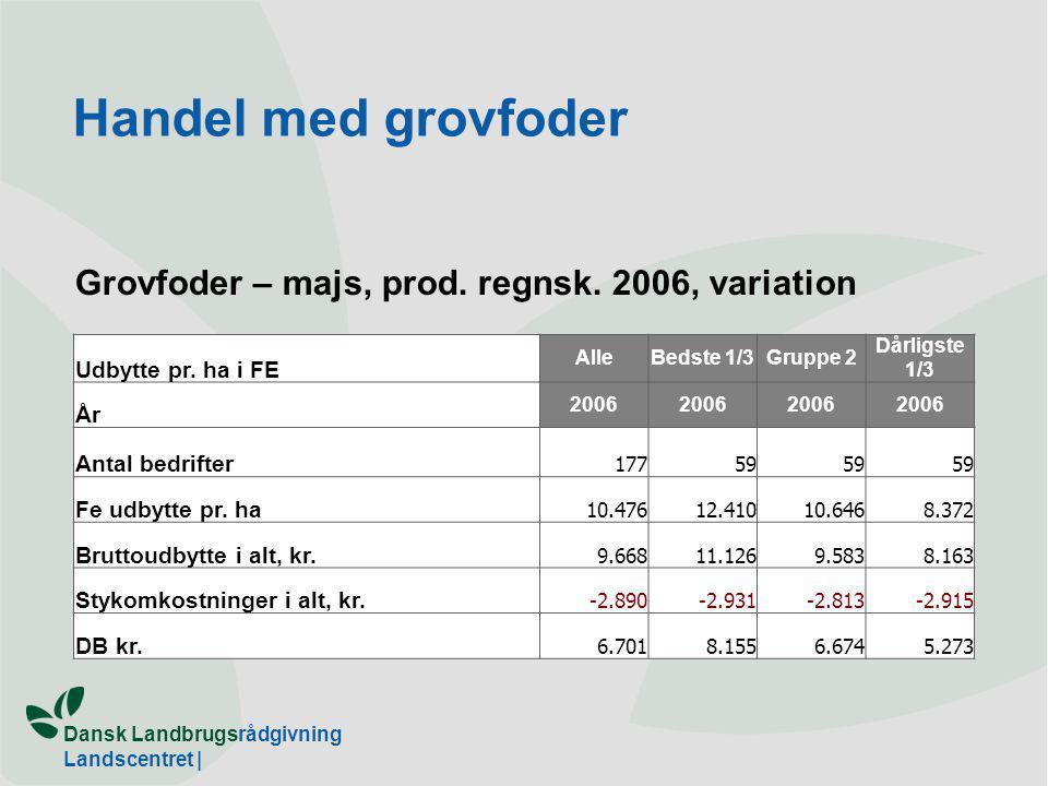 Dansk Landbrugsrådgivning Landscentret | Grovfoder – majs, prod.