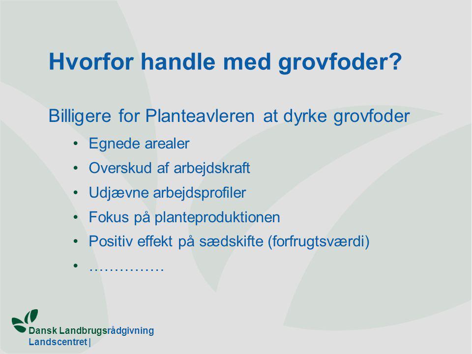 Dansk Landbrugsrådgivning Landscentret | Hvorfor handle med grovfoder.
