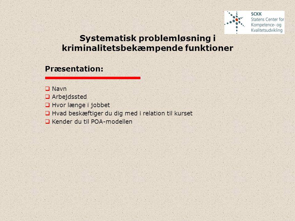 Systematisk problemløsning i kriminalitetsbekæmpende funktioner 2.