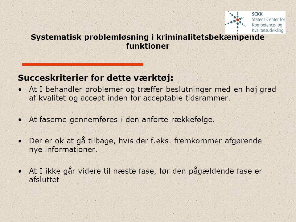 Systematisk problemløsning i kriminalitetsbekæmpende funktioner 4.