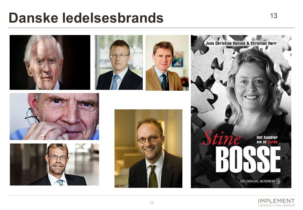 13 Danske ledelsesbrands