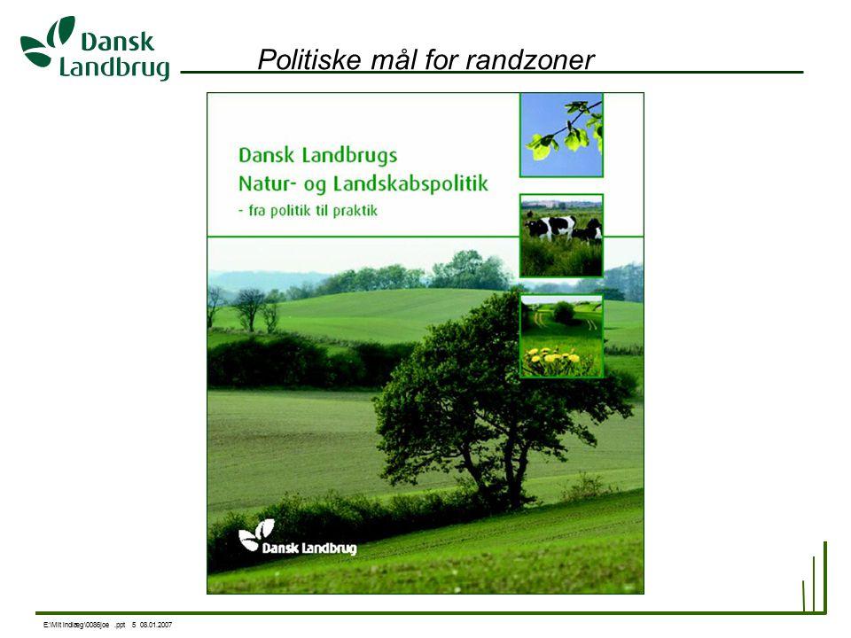 E:\Mit indlæg\0086joe.ppt 5 08.01.2007 Politiske mål for randzoner