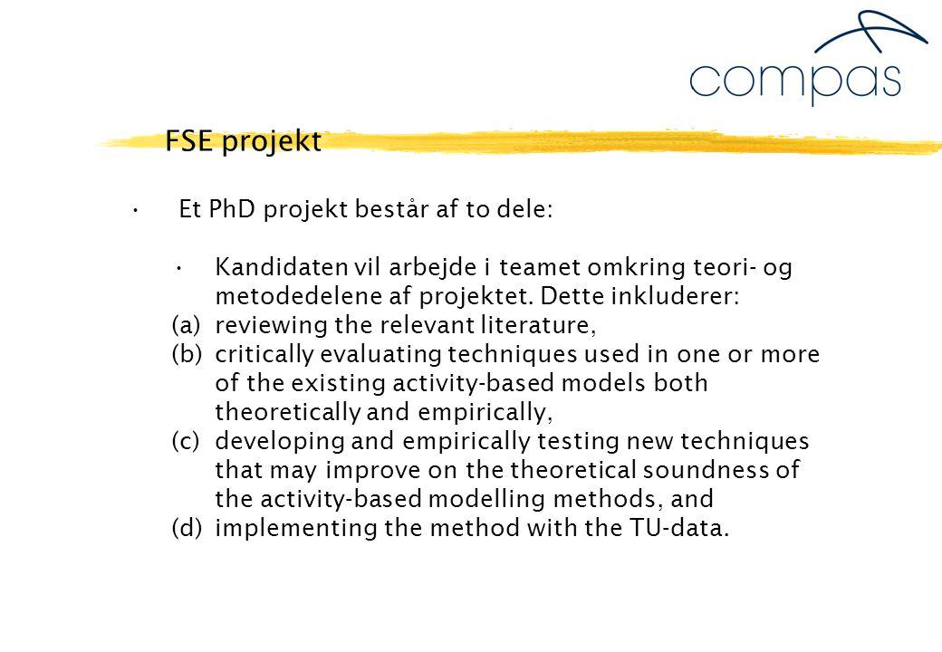 Et PhD projekt består af to dele: Kandidaten vil arbejde i teamet omkring teori- og metodedelene af projektet.