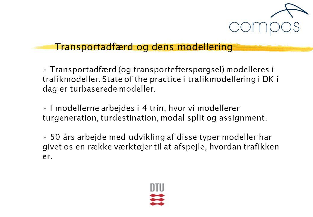Transportadfærd (og transportefterspørgsel) modelleres i trafikmodeller.