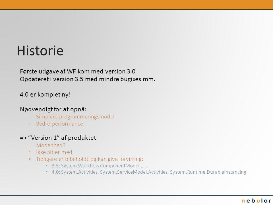 Historie Første udgave af WF kom med version 3.0 Opdateret i version 3.5 med mindre bugixes mm.