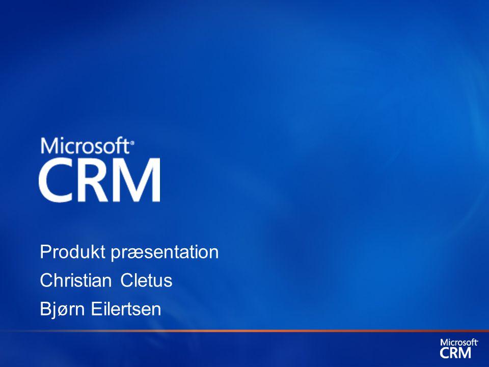 Microsoft CRM – et nøgleprodukt for Microsoft Et strategisk produkt fra Microsoft Naturlig sammenhæng med Microsoft produkterne Office og Windows