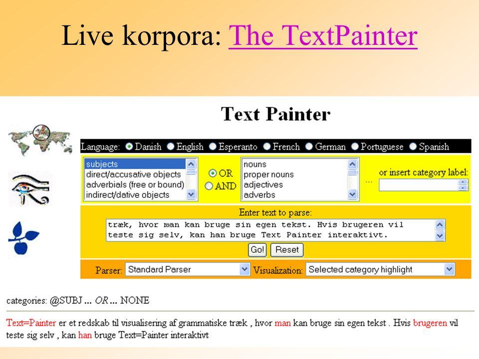 Live korpora: The TextPainterThe TextPainter