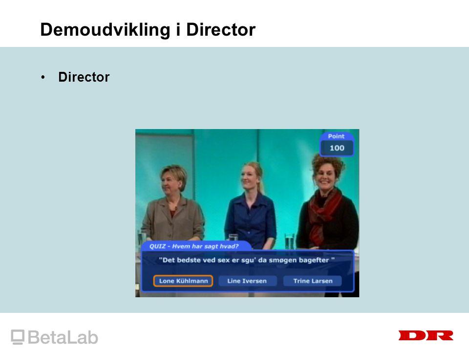 Demoudvikling i Director Director