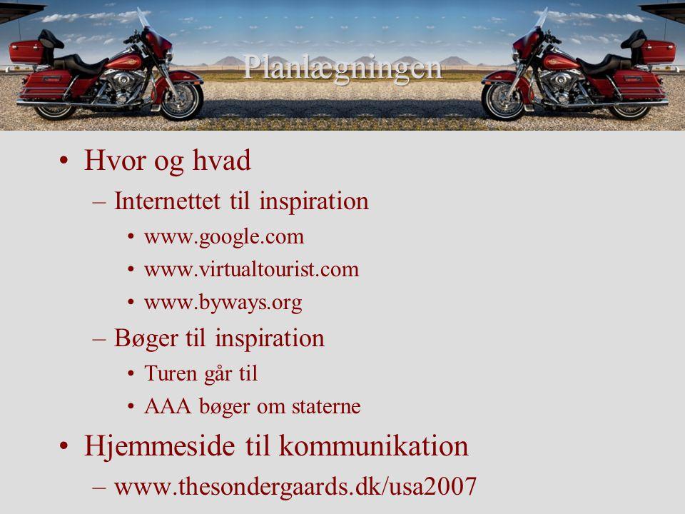 Easy Rider og Biker Jens Coast to Coast og hvorfor alligevel ikke –Fortryde halvvejs –Ekstra pris for One-way –Direkte fly hjem