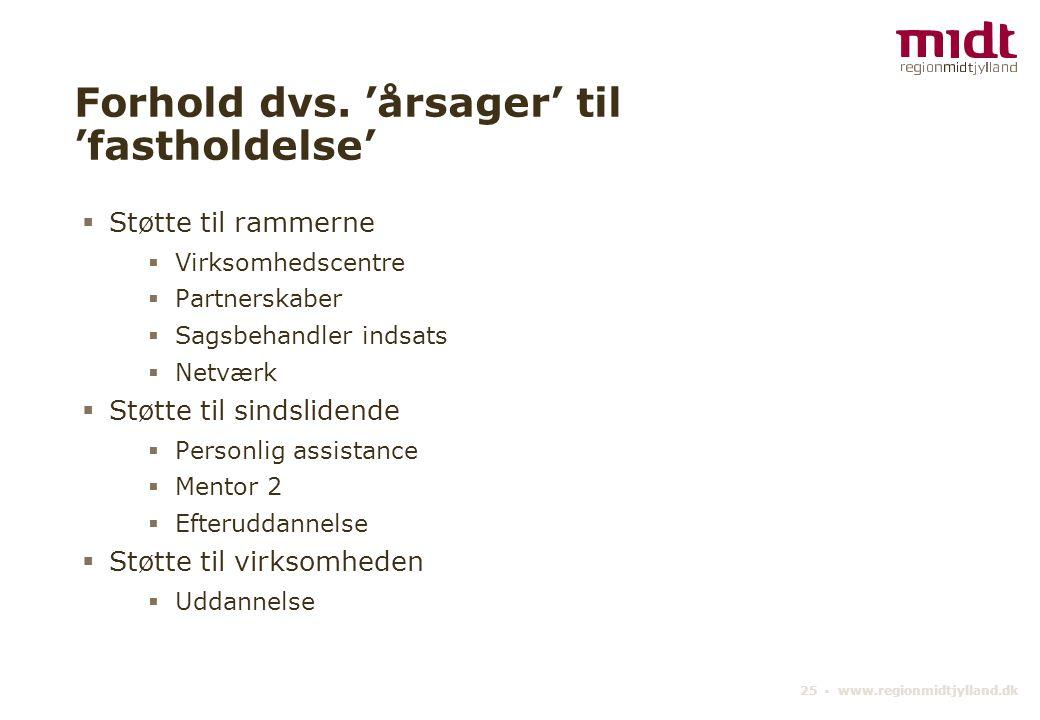 25 ▪ www.regionmidtjylland.dk Forhold dvs.