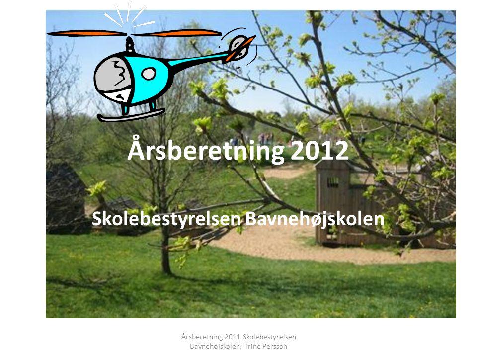 Årsberetning 2012 Skolebestyrelsen Bavnehøjskolen Årsberetning 2011 Skolebestyrelsen Bavnehøjskolen, Trine Persson