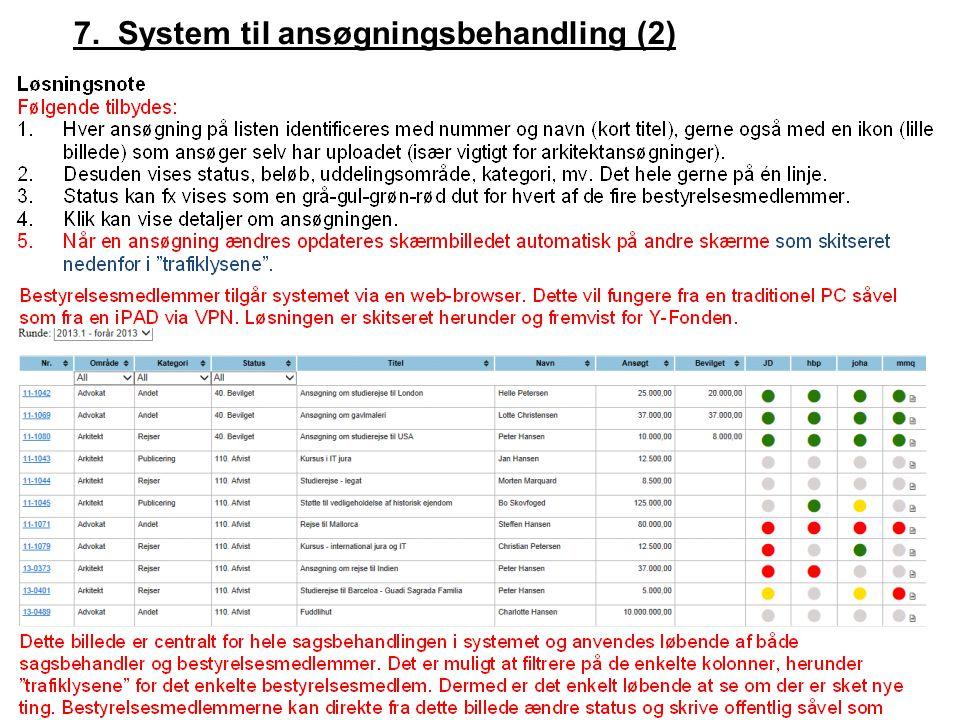 7. System til ansøgningsbehandling (2)