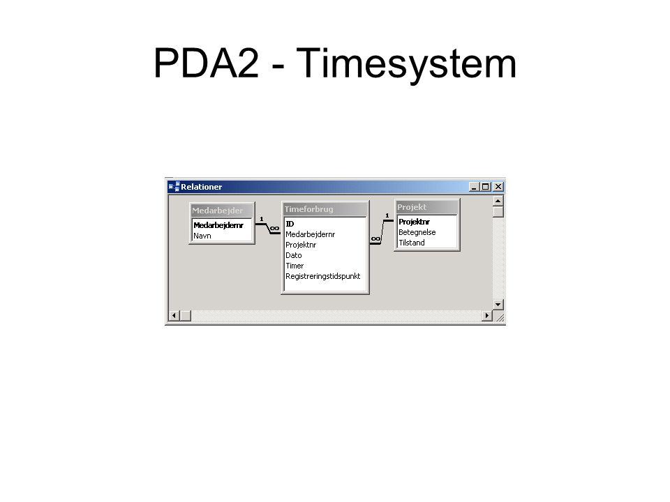PDA2 - Timesystem