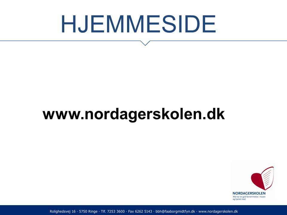 HJEMMESIDE www.nordagerskolen.dk