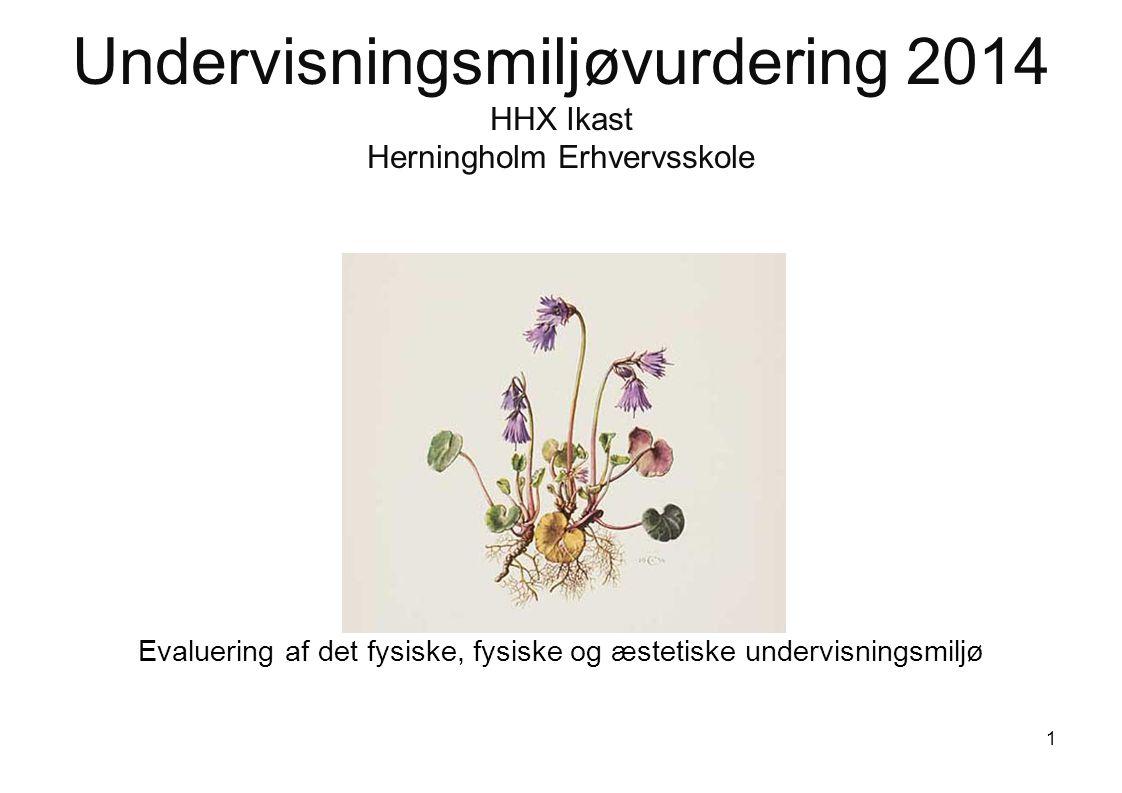 Undervisningsmiljøvurdering 2014 HHX Ikast Herningholm Erhvervsskole Evaluering af det fysiske, fysiske og æstetiske undervisningsmiljø 1