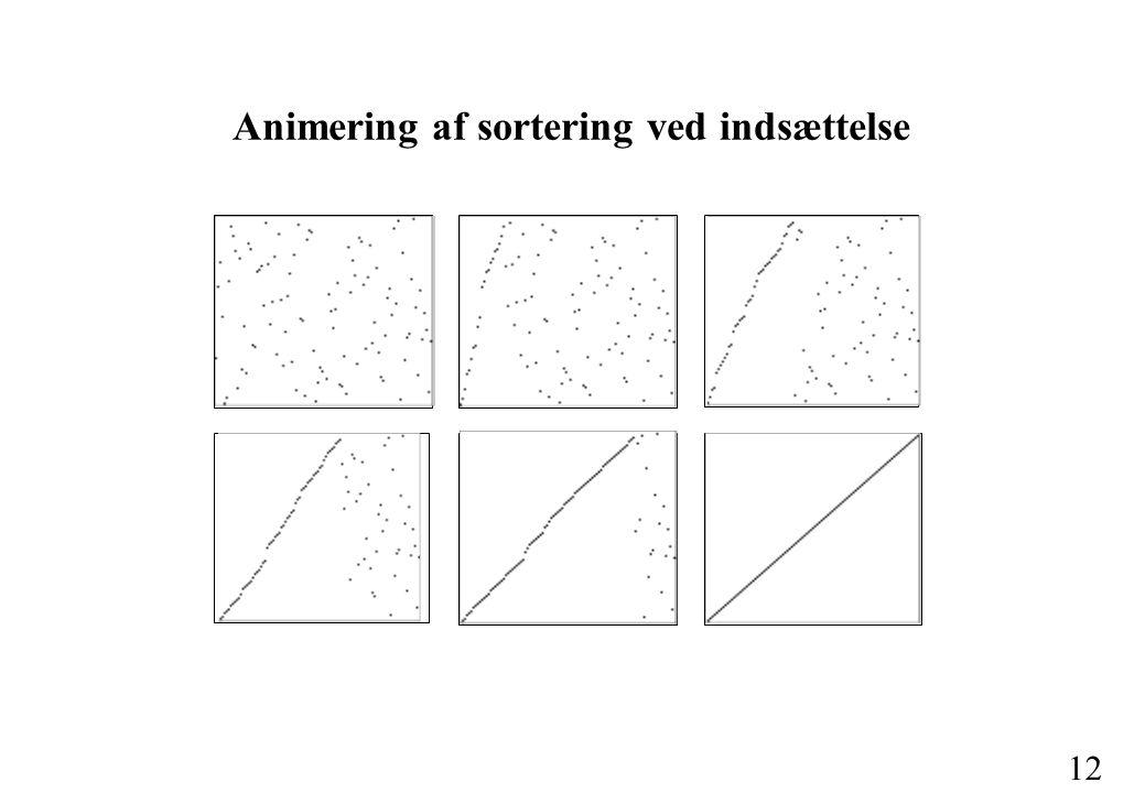 12 Animering af sortering ved indsættelse
