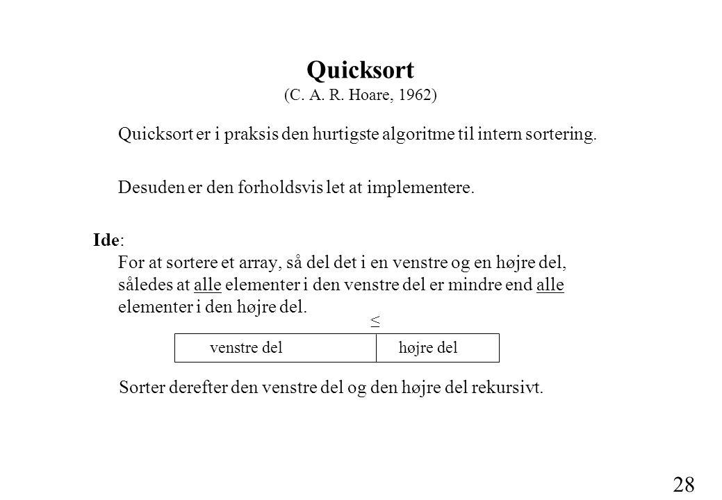 28 Quicksort (C. A. R.