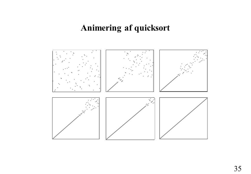 35 Animering af quicksort