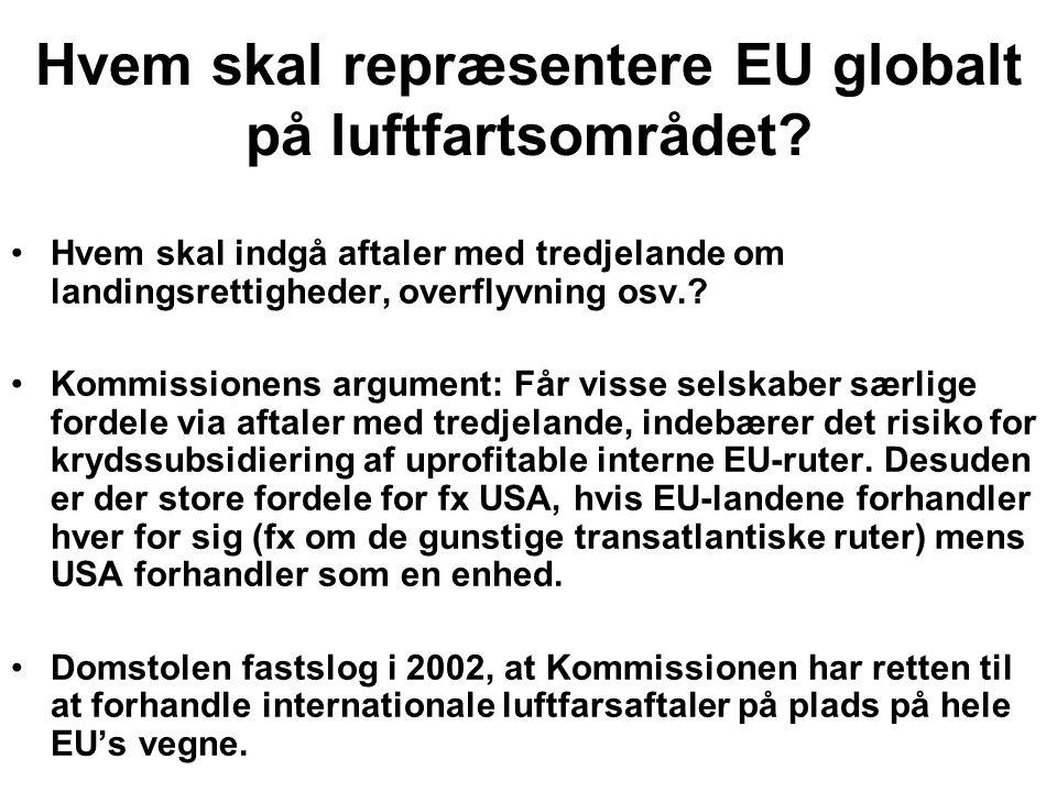 Hvem skal repræsentere EU globalt på luftfartsområdet.