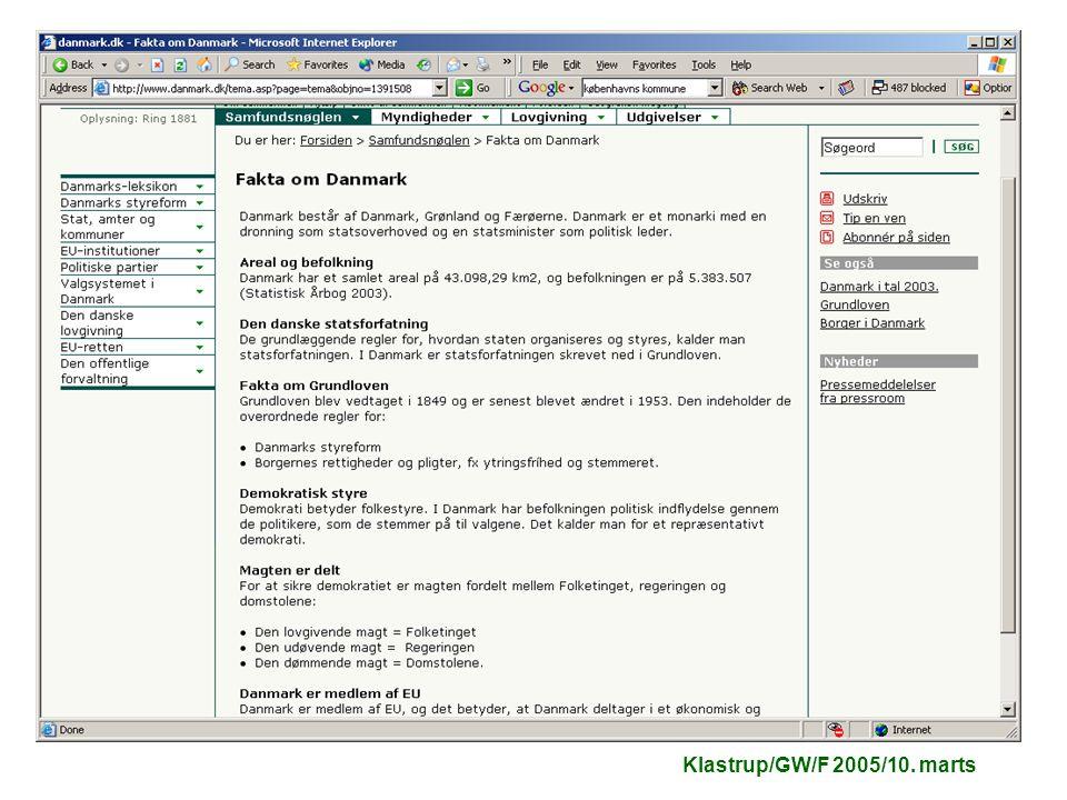 Klastrup/GW/F 2005/10. marts
