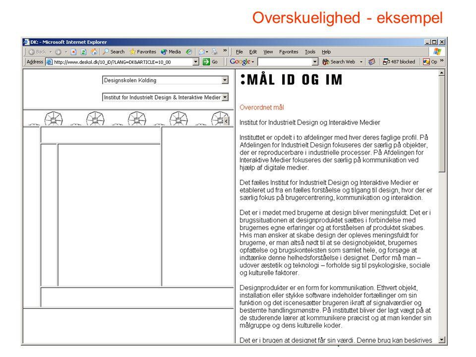 Klastrup/GW/F 2005/10. marts Overskuelighed - eksempel