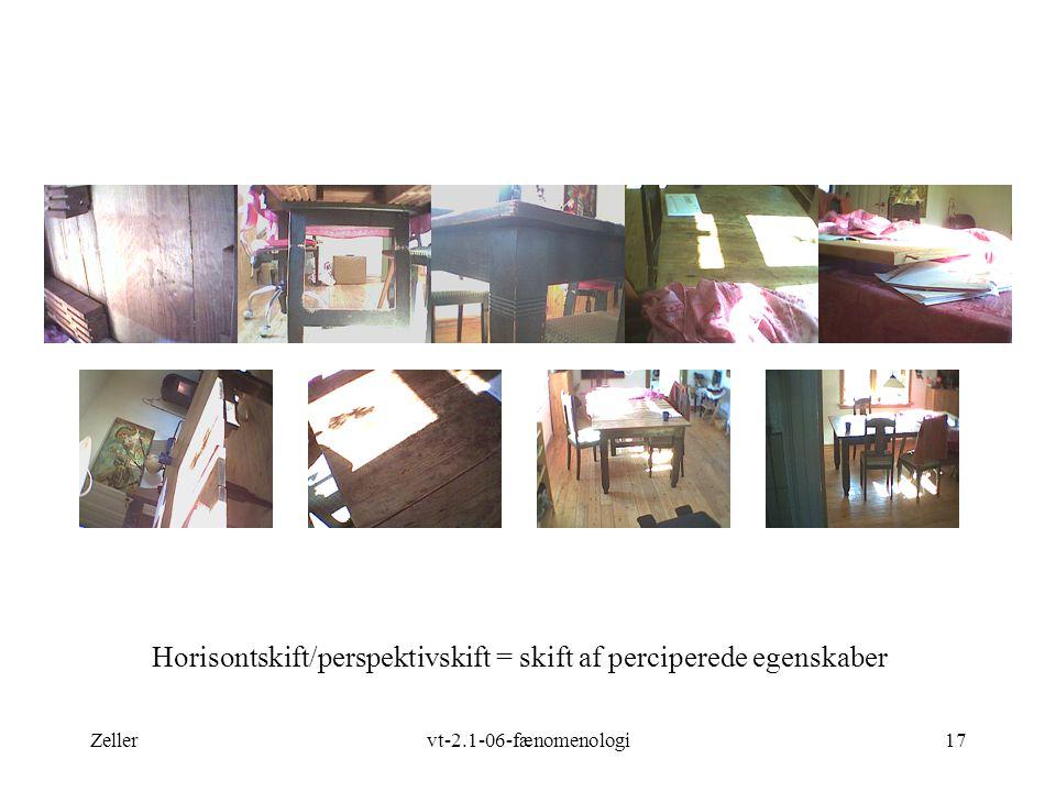 Zellervt-2.1-06-fænomenologi17 Horisontskift/perspektivskift = skift af perciperede egenskaber