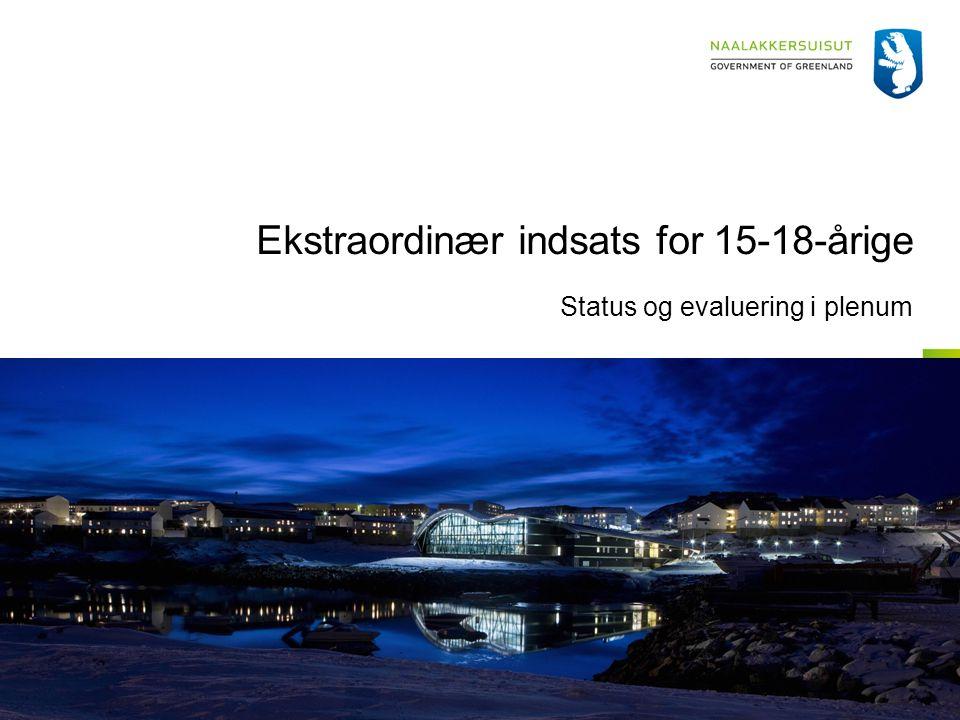 Ekstraordinær indsats for 15-18-årige Status og evaluering i plenum
