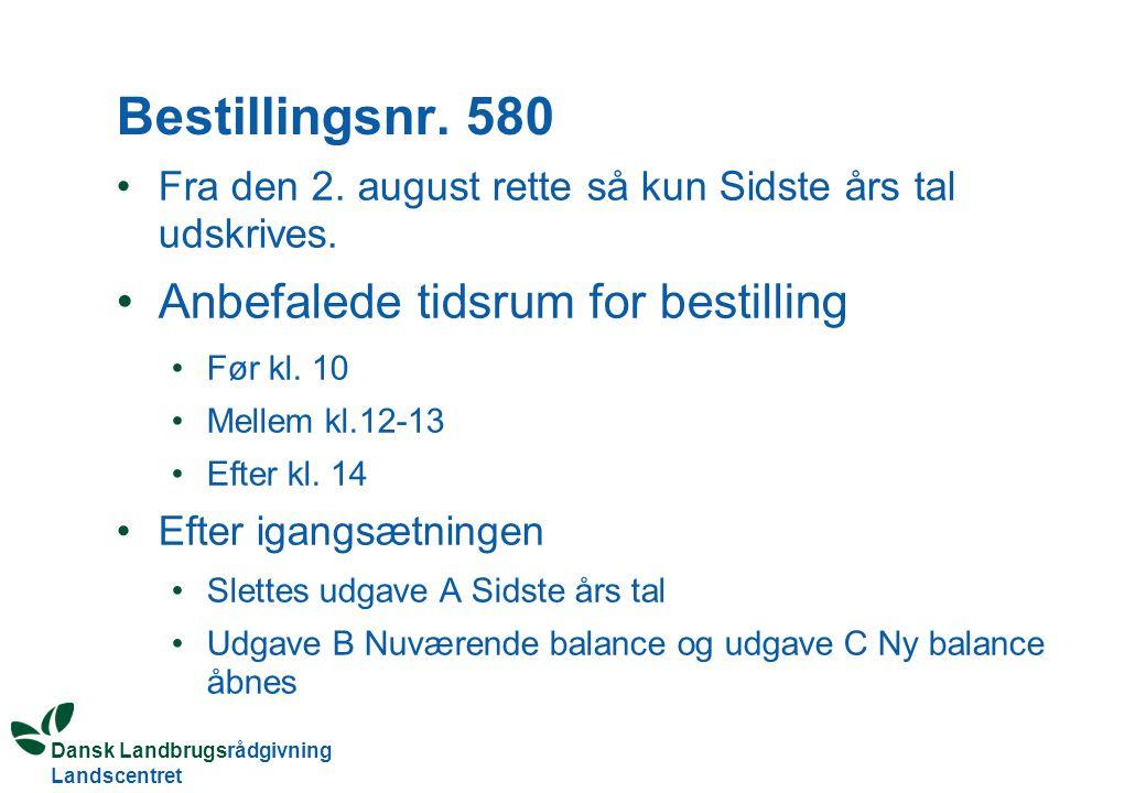 Dansk Landbrugsrådgivning Landscentret Bestillingsnr.